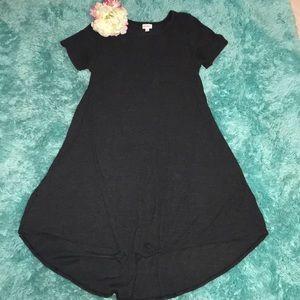 Gray Ribbed Carly Dress